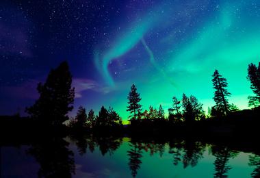 Chasseurs d'aurores boréales.... Multi-activités au Yukon, voyage Amérique du Nord